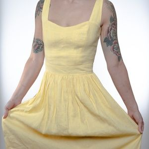 Yellow Linen French Connection Dress